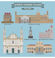 Palermo famous places vector image