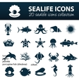 sealife icons vector image
