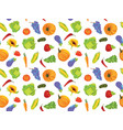 seamless pattern with fruits and vegetables vector image