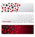 Set Banner symbol playing cards vector image