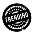trending rubber stamp vector image