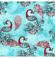 seamless winter pattern with stylized peacocks and vector image vector image