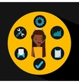 afro girl support operator assistance vector image