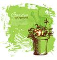 Vintage sketch gardening background vector image vector image