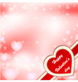 greeting card Valentine vector image