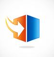 storage arrow download cube logo vector image