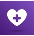 Heart icon medical life health vector image
