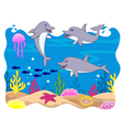 Dolphin cartoon vector image vector image