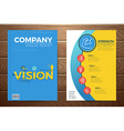 Business vision book cover vector image vector image