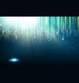 abstract blue lights background vector image