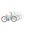 bike in a on a white background motion vector image