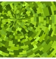 Green abstract radial textured geometric pattern vector image
