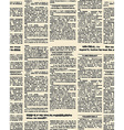 Old newspaper seamless pattern background of vector image