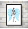 skeleton sketch poster vector image