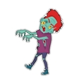 Zombie Character Walking with Stretched Hands vector image