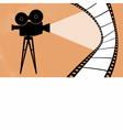 Cinema camera and movie vector image