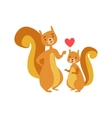 Squirrel Dad Animal Parent And Its Baby Calf vector image