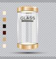 empty golden glass showcase vector image vector image