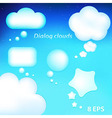 Dialog Clouds vector image vector image