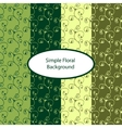 Green floral seamless background vector image