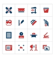 Set color icons of screen printing vector image