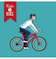 Ride a bike design vector image