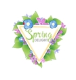 Floral spring banner vector image