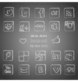 Social media icons set vector image