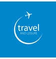 travel logo vector image vector image