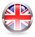 Gloss Button with British Flag vector image