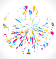 abstract colorful design vector image