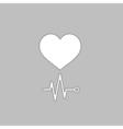 cardiogram computer symbol vector image
