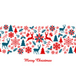 Christmas banner seamless pattern vector image
