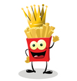 French Fries King vector image