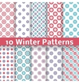 Light winter romantic patterns tiling vector image