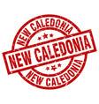new caledonia red round grunge stamp vector image