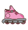 pink roller skate hobby activity vector image