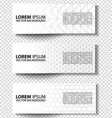 set of graphic banners vector image