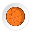 Basketball ball icon cartoon style vector image vector image