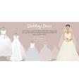 Wedding Dress Web Banner Fashionable Bride vector image