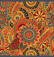 bright seamless pattern with paisley mehndi vector image