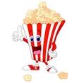 Cute popcorn cartoon with thumb up vector image vector image