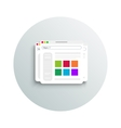 Modern app icon of browser business concept vector image