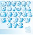 ice font vector image