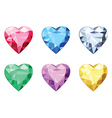 Heart shaped brilliants no gradients vector image