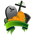 Pumpkins and graves vector image