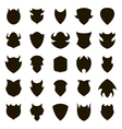 Set of different shield shapes icons vector image vector image