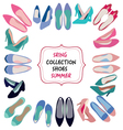 hand drawn fashion Spring summer collection vector image