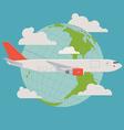 Cargo Plane Icon vector image vector image