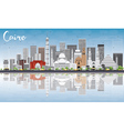 Cairo Skyline with Gray Buildings Blue Sky vector image